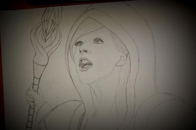 Drawing a magician girl - 3