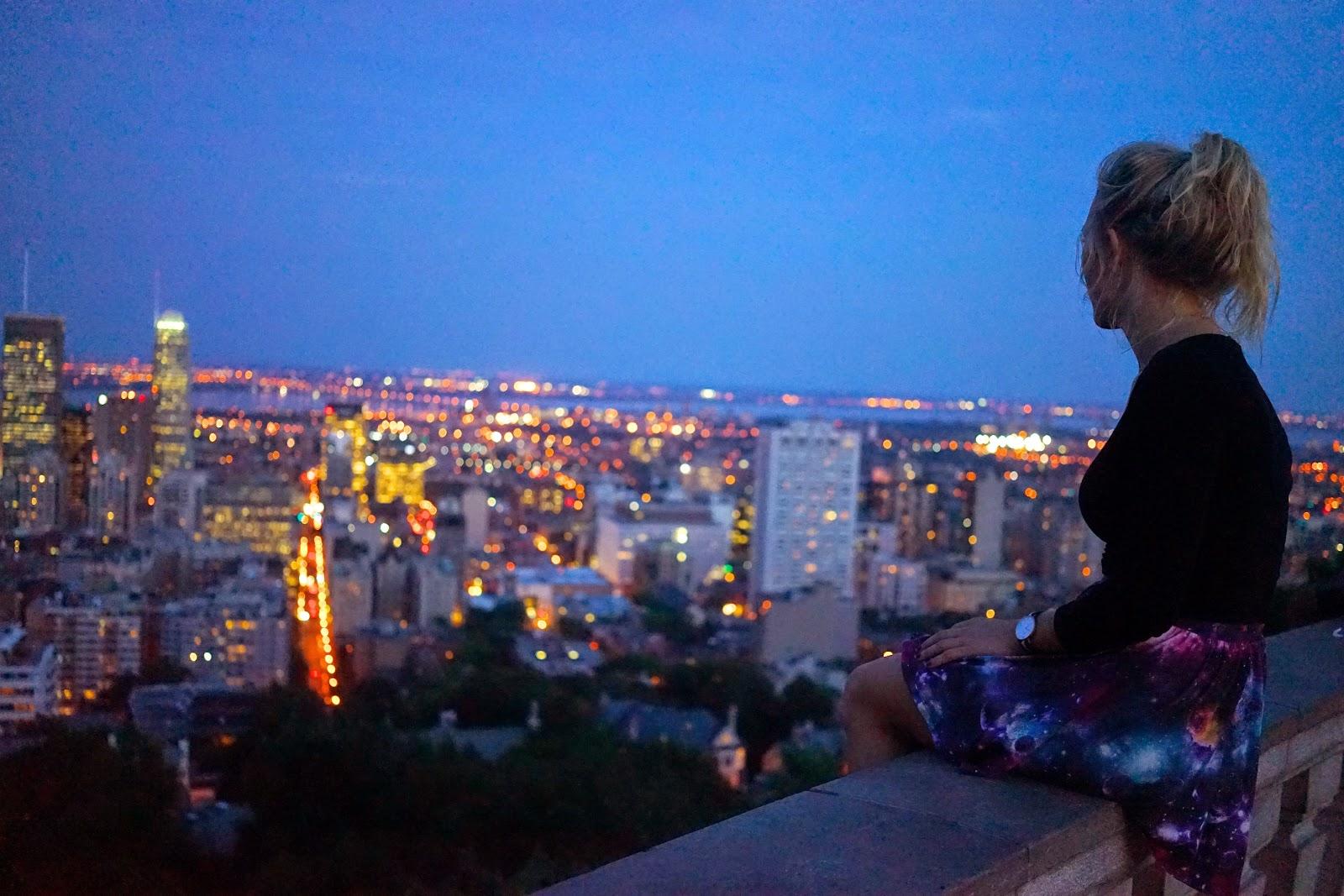 mont royal at night montreal