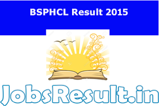 BSPHCL Result 2015