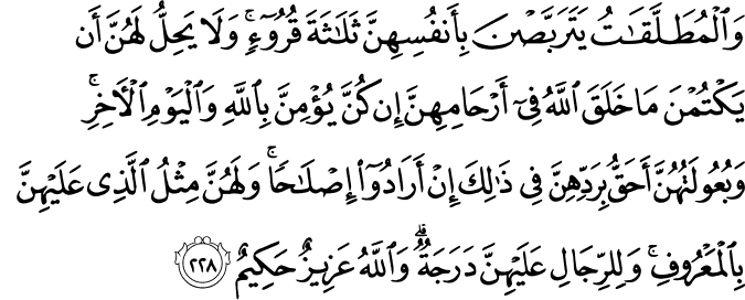 Surat Al-Baqarah Ayat 228