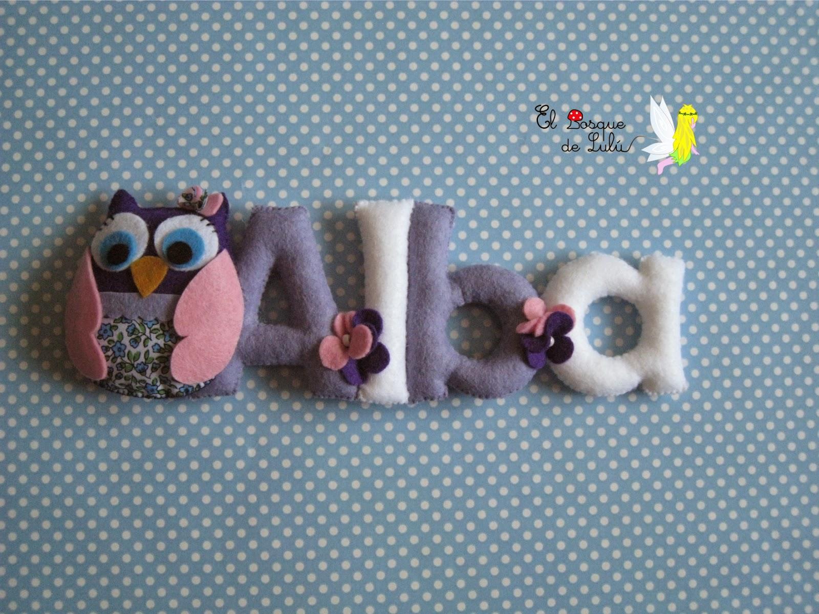 nombre-decorativo-letrero-fieltro-personalizado-regalo-nacimiento-bienvenida-Alba-decoración-infantil