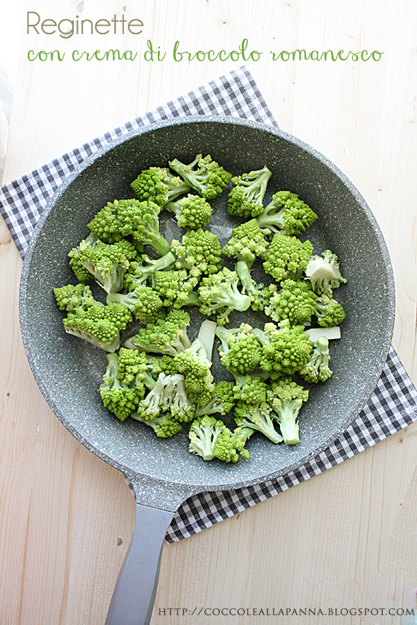 reginette con crema di broccolo romanesco