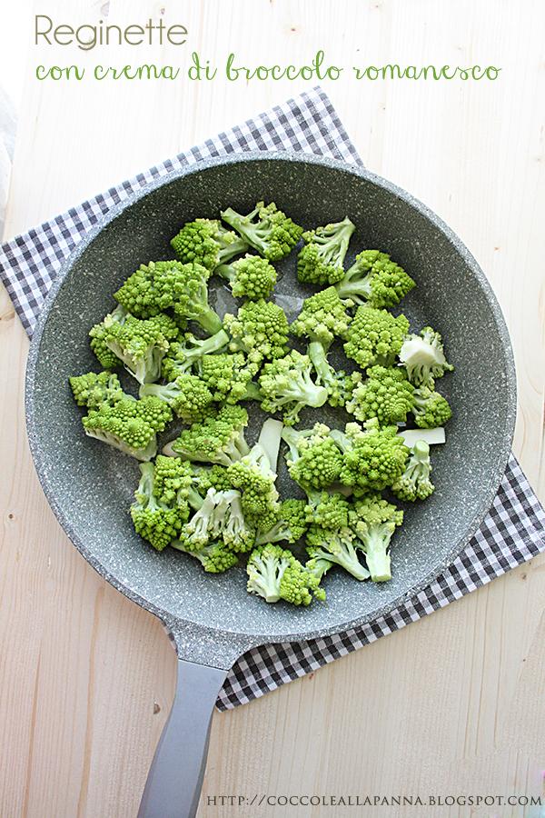 reginette con crema di broccolo romanesco