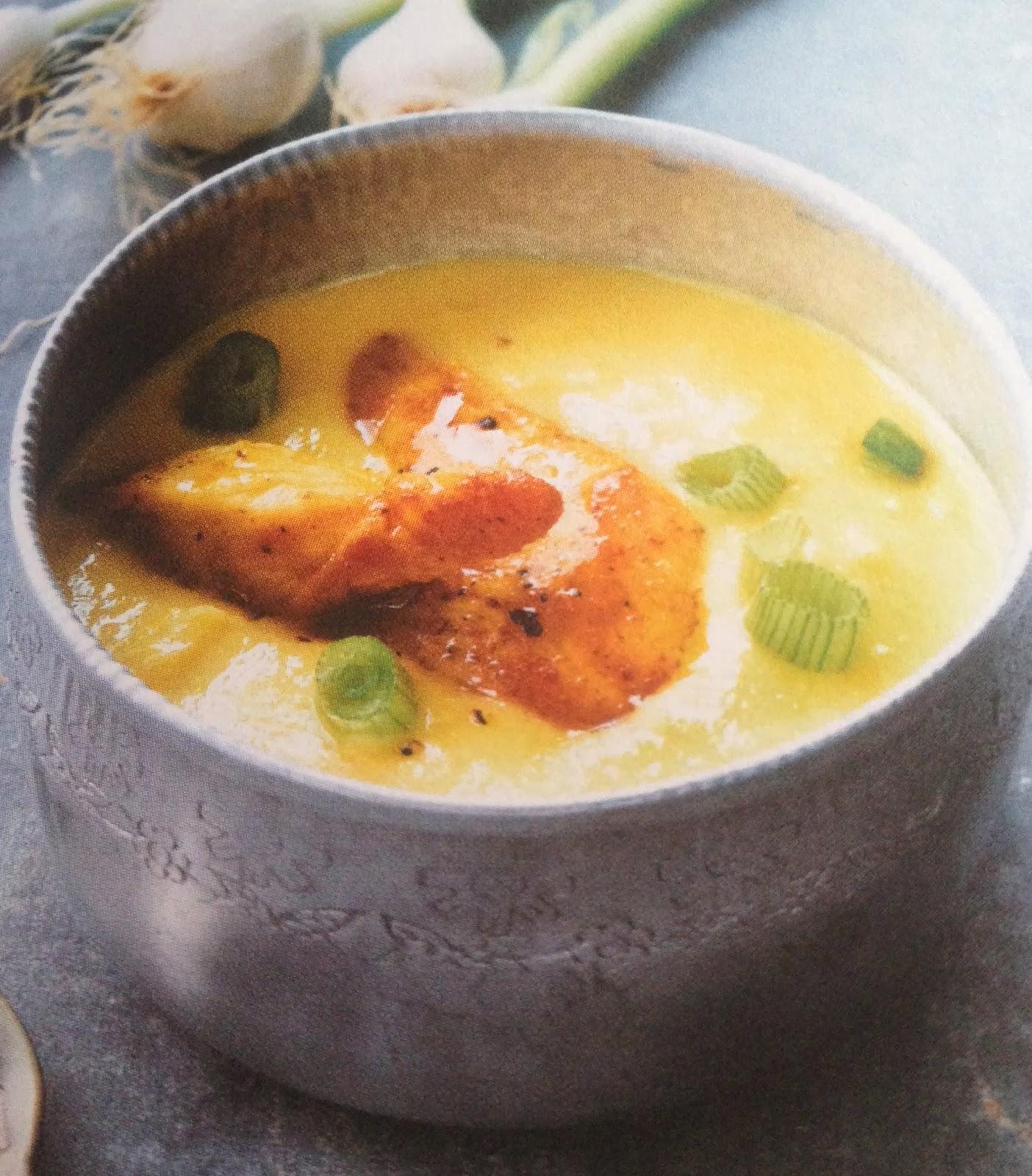 Le blog pour mes copines soupe de poireau la cive for Allez cuisine translation
