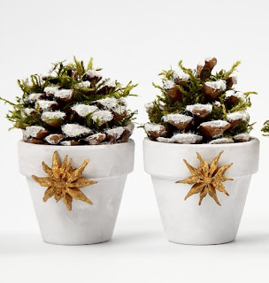 Мини-елочки из сосновых шишек