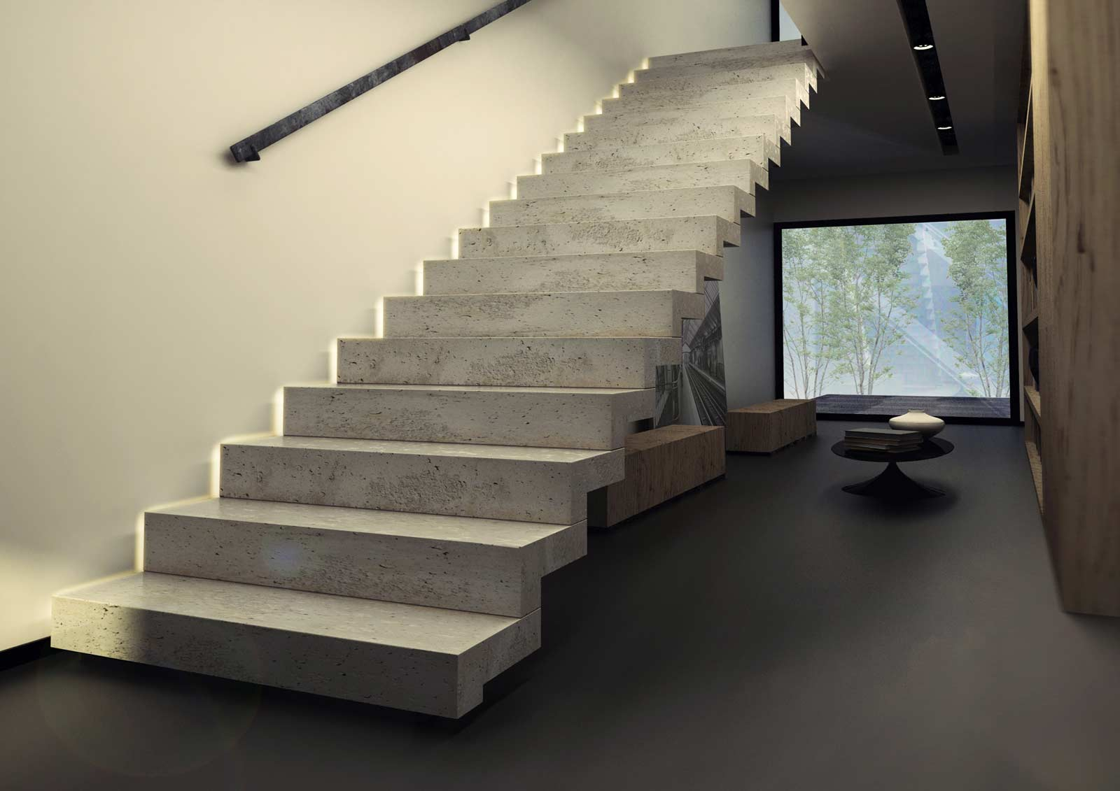 Le top 10 des escaliers droits design le blog de loftboutik - Escalier beton design ...