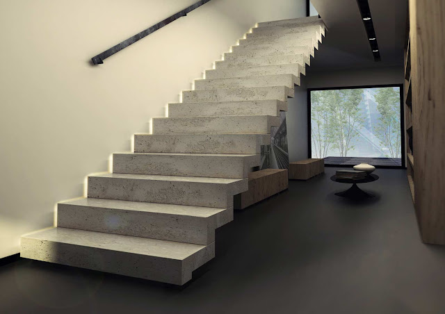 Le top 10 des escaliers droits design le blog de loftboutik for Escalier interieur design