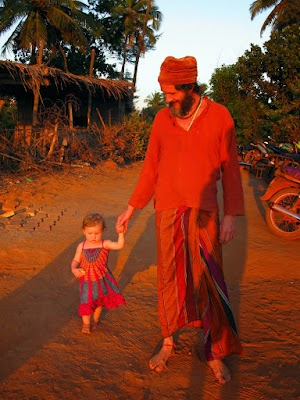 Foreigner from Switzerland with his cute daughter