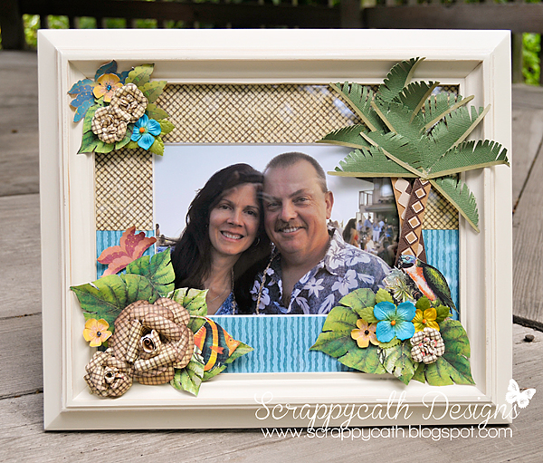 Scraps of Life: Tropical Picture Frame with Graphic 45