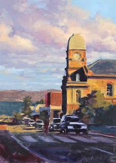 albany oil painting - stage 2 - by andy dolphin