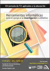 Afiche XII Jornada de TIC aplicadas a la educación para docentes de la FCEA