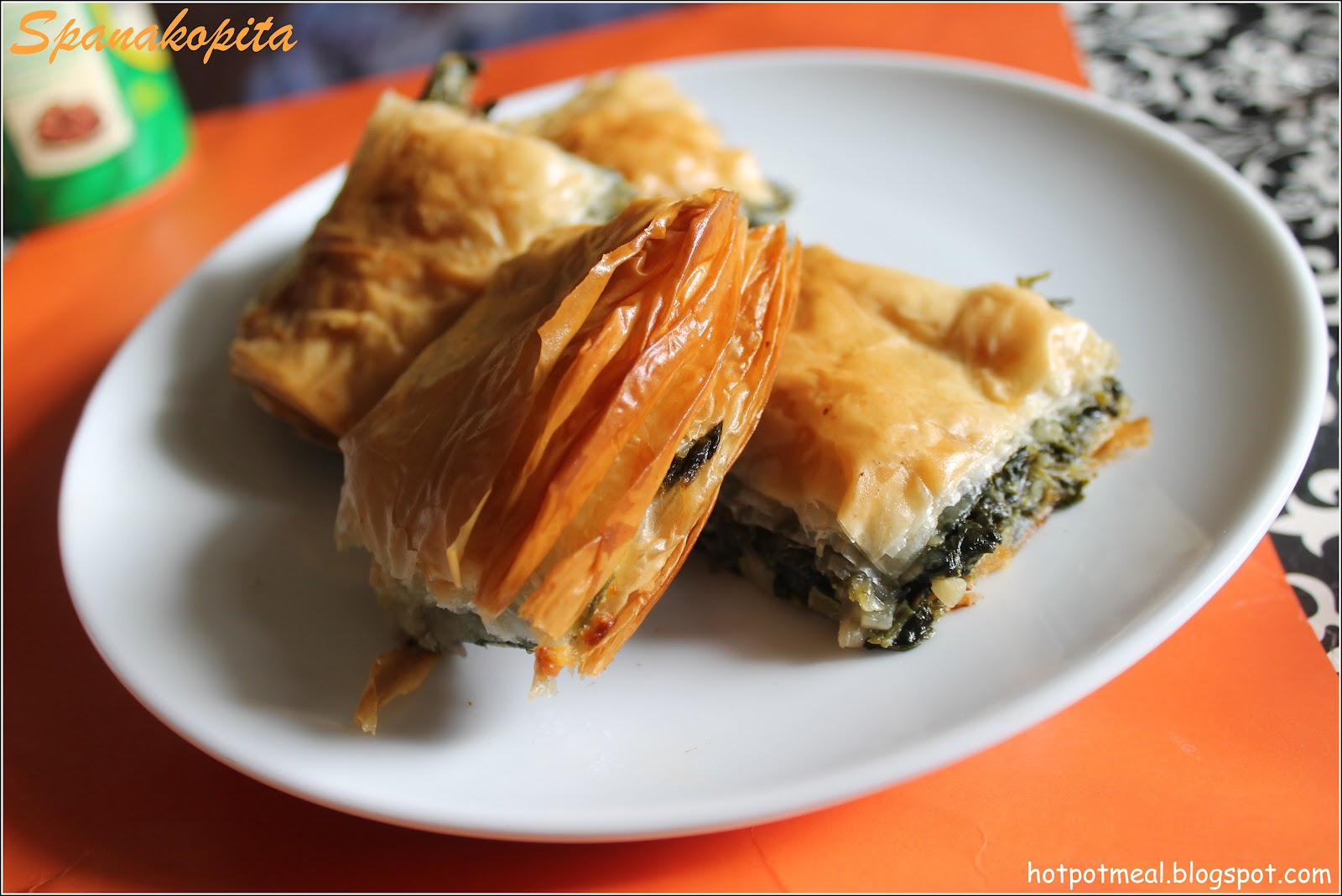Hot pot cooking spanakopita spinach pie with cheese forumfinder Choice Image