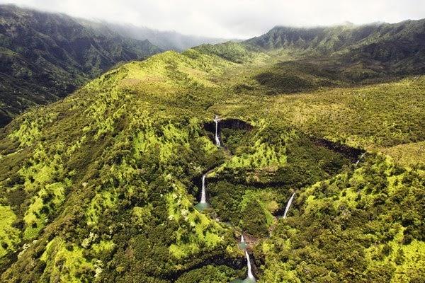 Kauai Fall in Hawaii Island