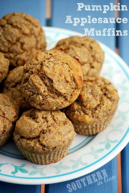 Pumpkin Applesauce Muffins makes 12 muffins