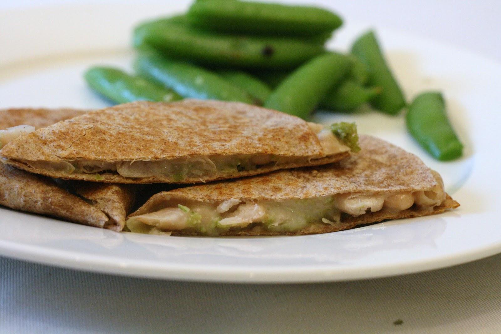 ... Recipe Box: Cannellini Bean Quesadillas with Garlic Scape Pesto