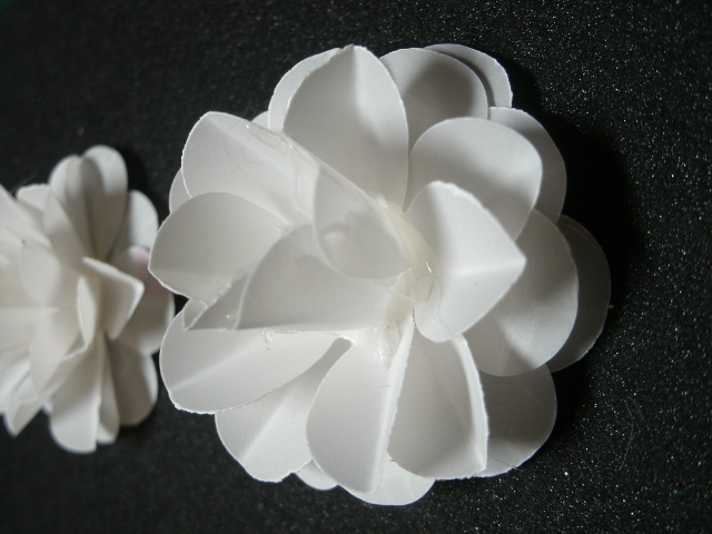 Hooked on crafts hand made paper flowers paper flowers is alive and well this week i tried making some from vellumlove how they turned out i think i will try the vellum with my cheery lynn mightylinksfo