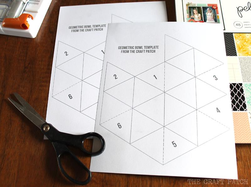 DIY Geometric Bowls - thecraftpatchblog.com