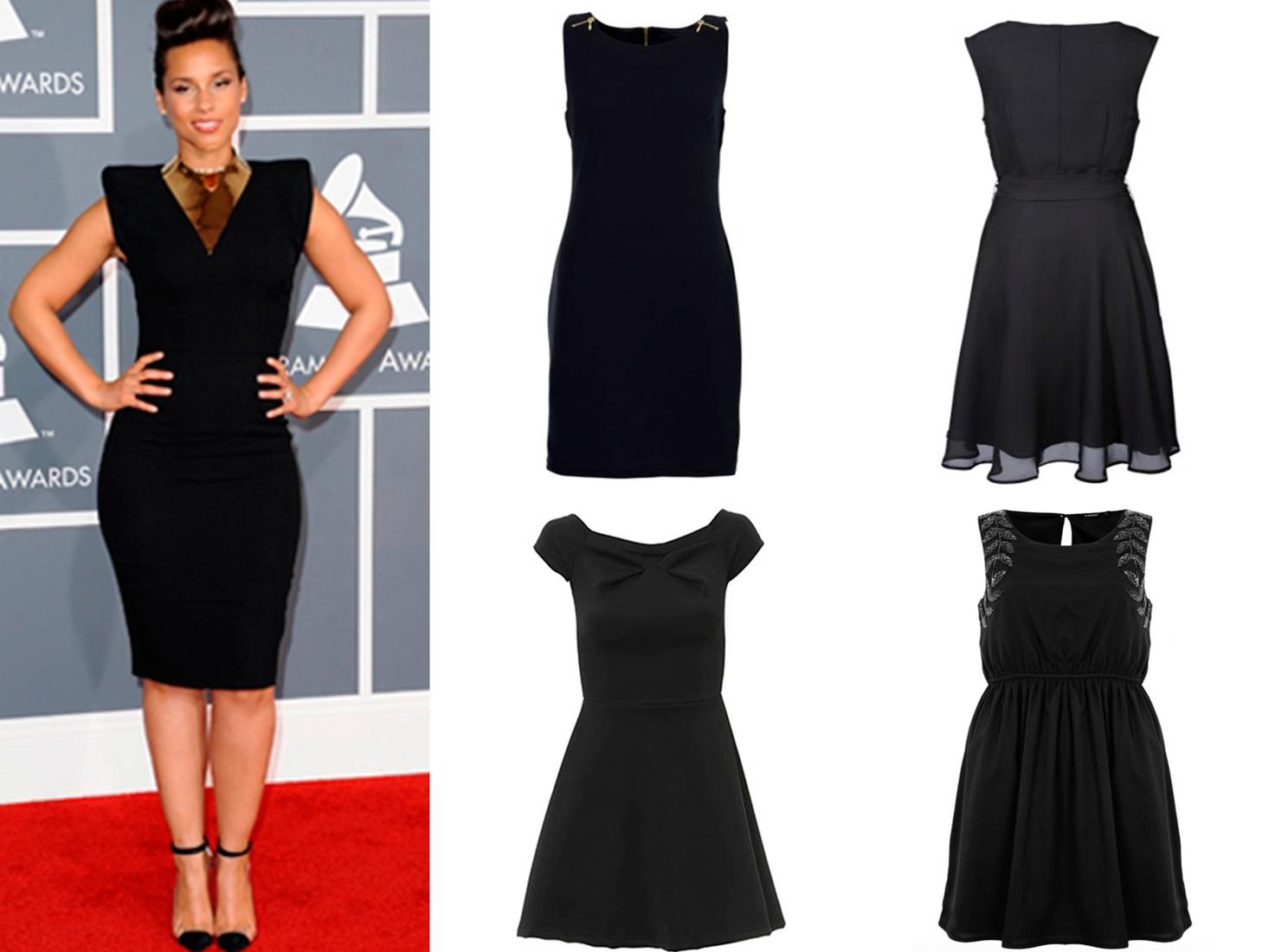 roupa, vestido preto, guarda-roupa