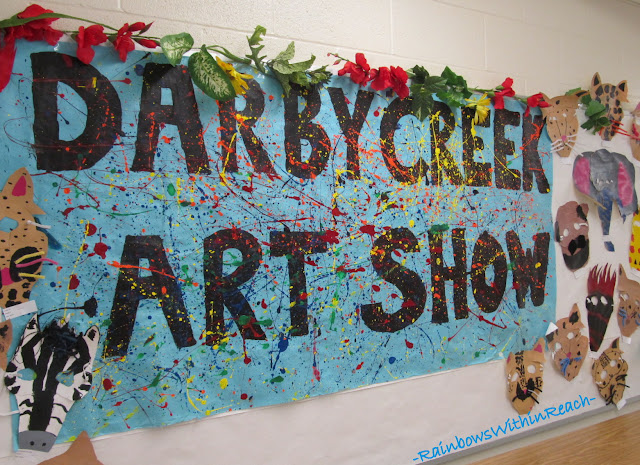 photo of: Bulletin Board for Art Show in Elementary School