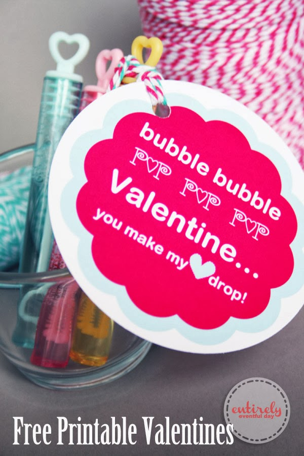 This is a picture of Striking Bubble Valentine Printable