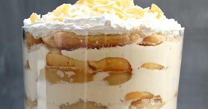 White Chocolate Tiramisu Trifle With Spiced Pears Recipe ...