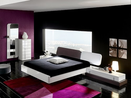 Gambar Kamar Tidur Minimalis Desain Hitam Putih Simple