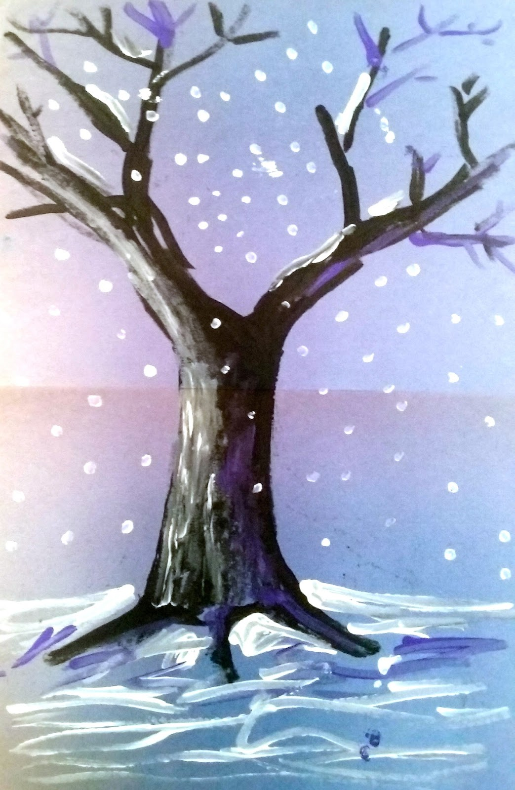 Angie Villa Art Amp Education Easy Winter Themed Art Lesson