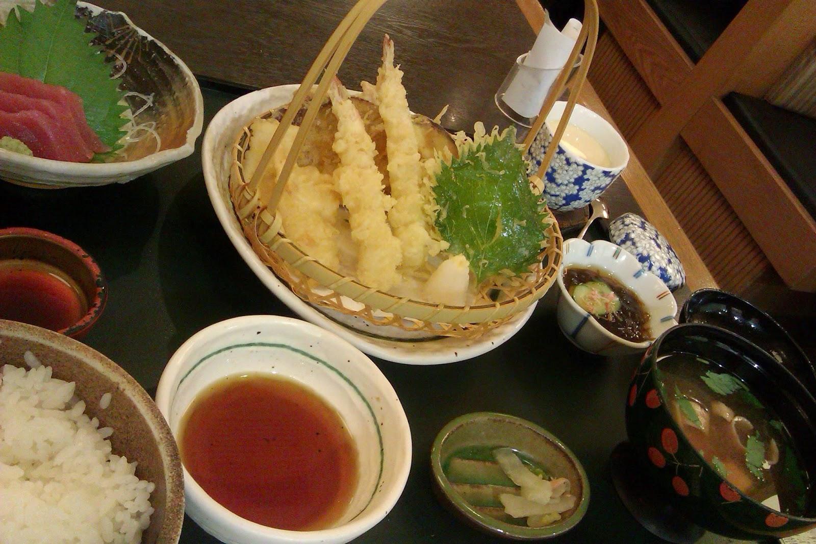 Tempura set Wafu-Tei Japanese Restaurant