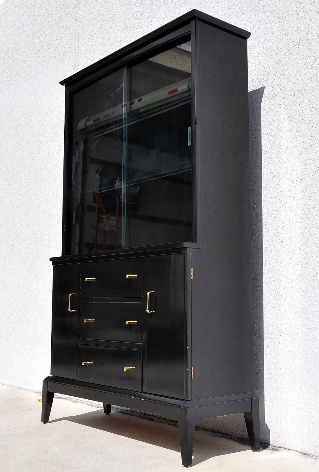 Black Modern Hutch