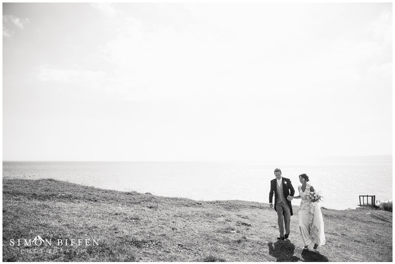 Bride and Groom Dorset coast
