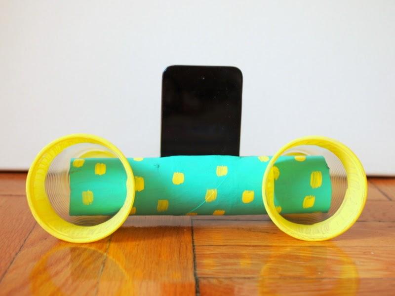 painted diy ipod cardboard roll speakers