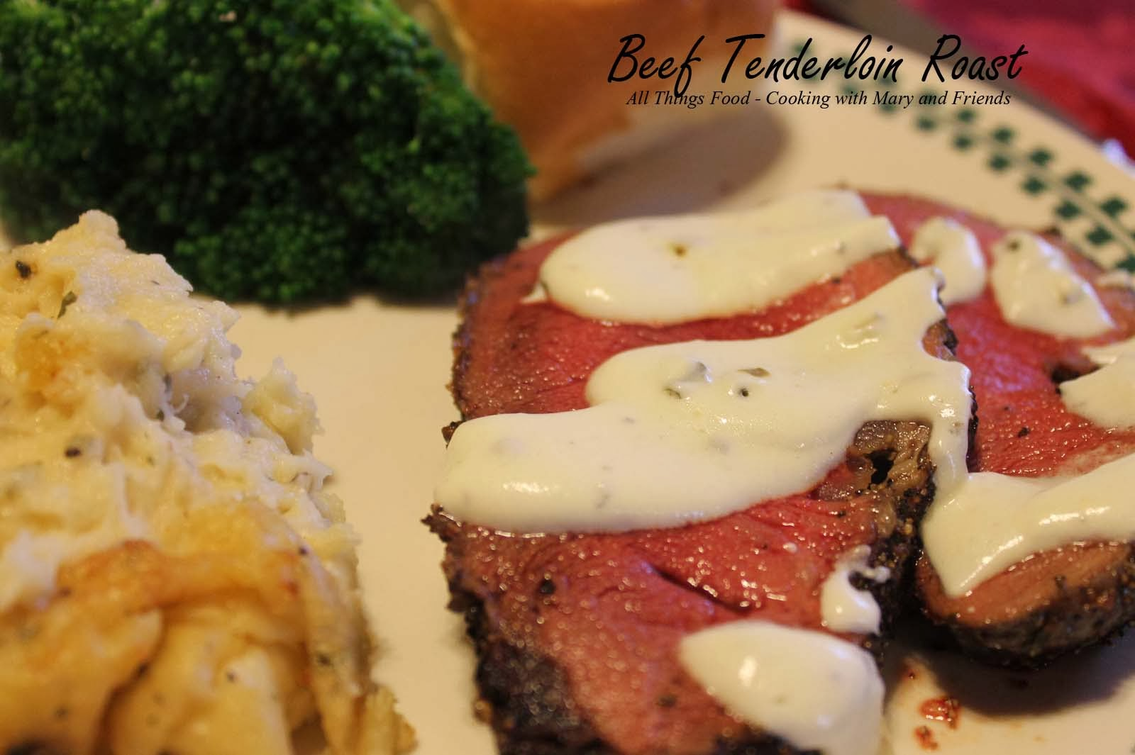 Cooking with mary and friends roasted beef tenderloin