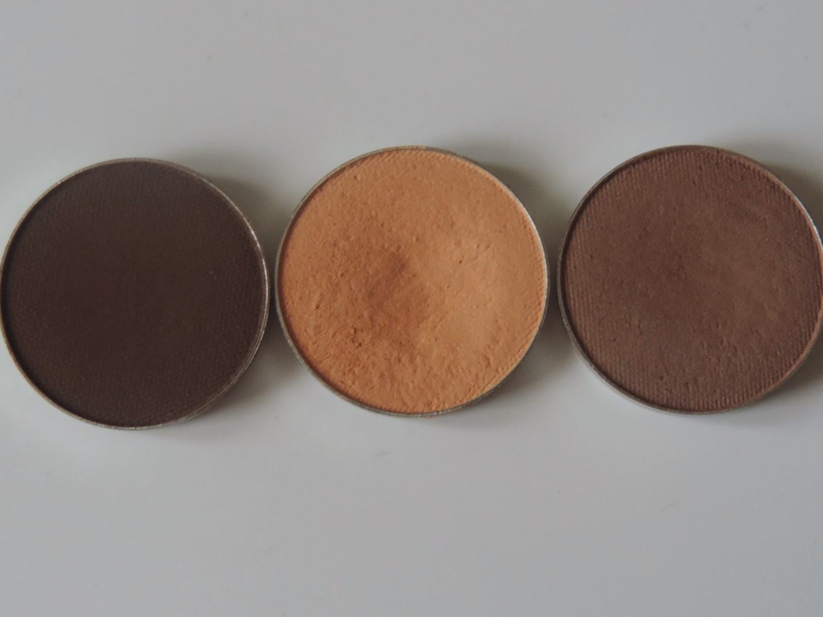 Makeup Geek Mocha, Peach Smoothie, Barcelona Beach