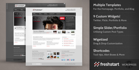 FreshStart WordPress Theme Free Download by ThemeForest.