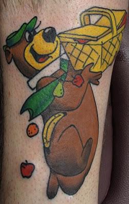 Yogi Bear Zé Colméia Tattoo