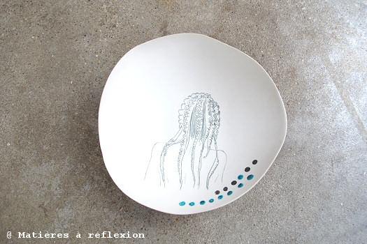 Céramique octopus Sandrine Pagny