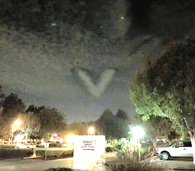 Huge V Shaped UFO Caught Above California 2015, UFO Sightings