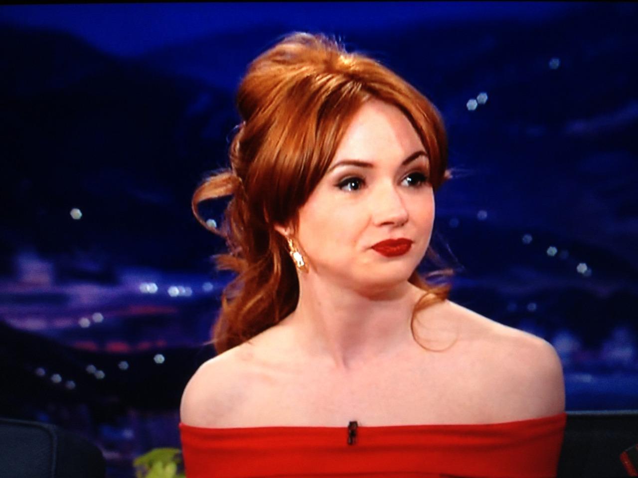Karen Gillan Made An Appearance On The Late Night American Talk Show