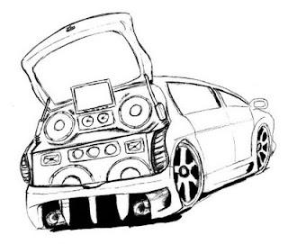 a desenhar os carro com som  colorir