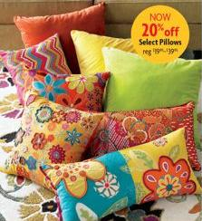 Colorful Pier 1 Pillows