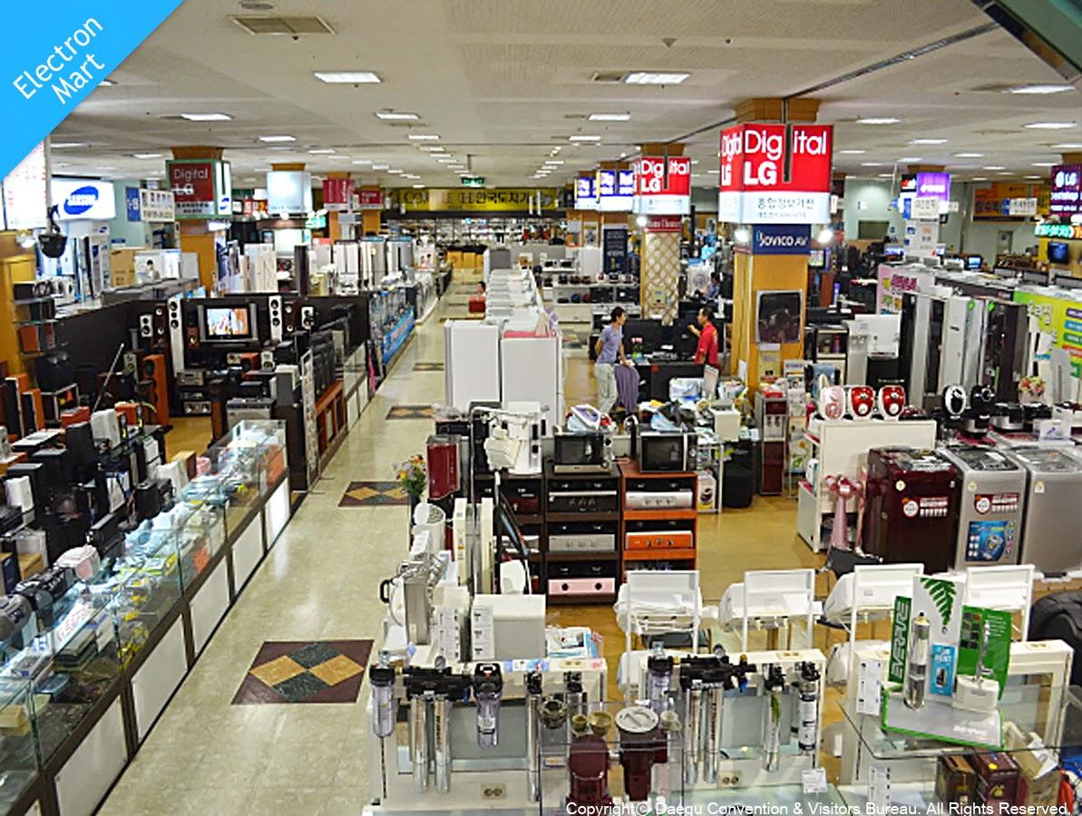 Shopping Areas in Daegu-Elctron Zone at EXCO, Buk-gu