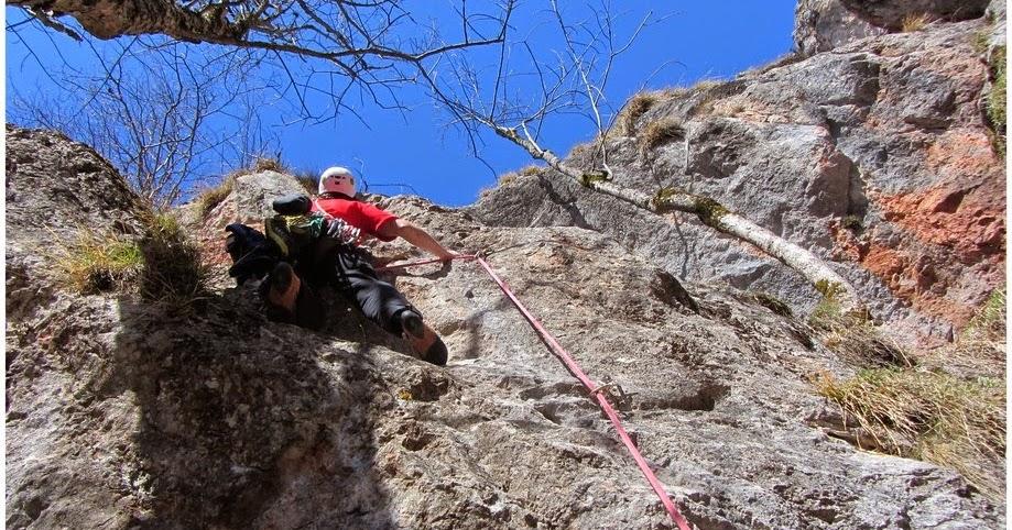 15. Albin Simonič - alpinizem: Rote wand, smeri Kunststucke in Graue ...