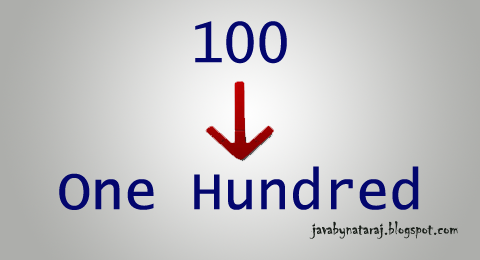 Convert number to Word or Characters_JavabynataraJ