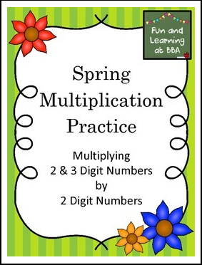 Spring Multiplication Task cards