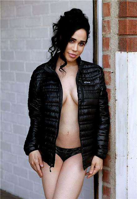 Nadya Suleman a.k.a. Octomom Topless But Covered For Mortgage
