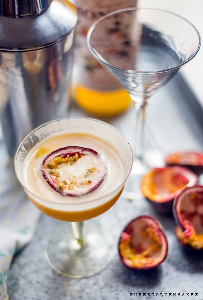 Supergolden Bakes: Passionfruit martini