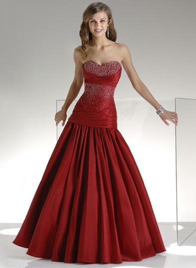 Elegant Bridal Style Beautiful Red Wedding Dress