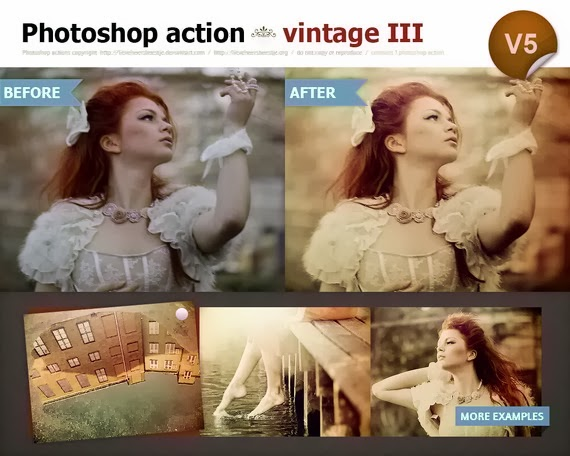 Vintage Action III in Photoshop