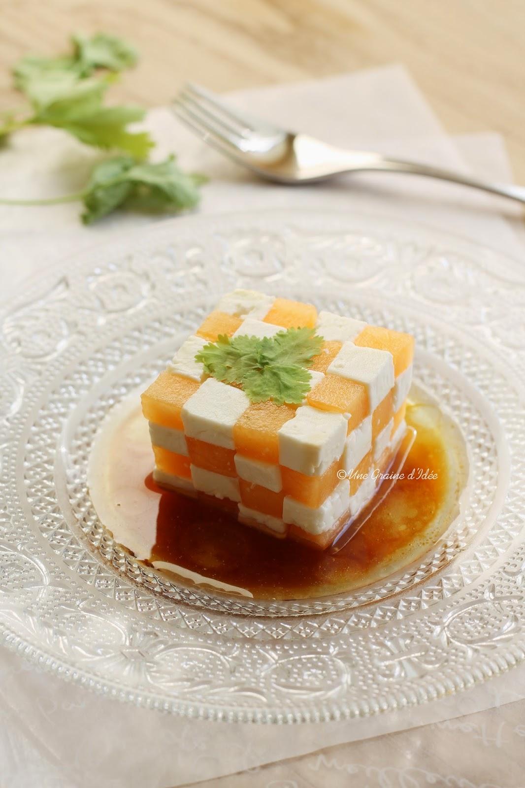 Rubik's Cube de Melon et de Feta - Une Graine d'Idée
