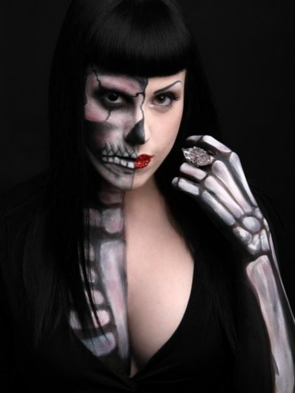 This Skull Makeup Goes Even